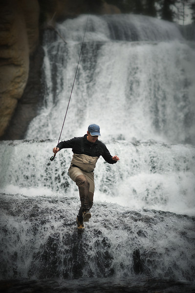 John, extreme fishing in Yellowstone