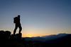 Sunset hiker