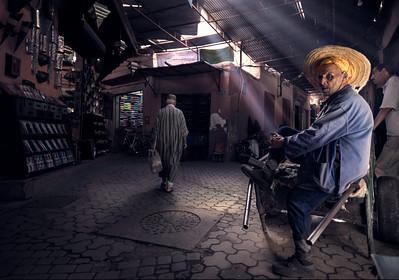 Old man in Marrakech market
