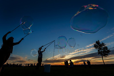 Playing With Bubbles at Boulevard Park