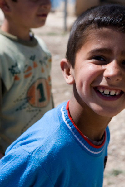 Iraqi Children displaced in Kurdistan.  April 2009