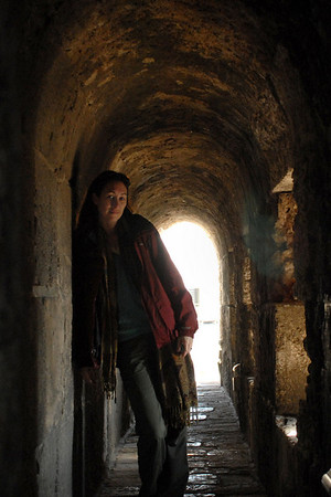Self portrait inside the Citadel, Jerusalem. February 2008