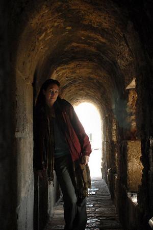 Self portrait inside the Citadel, Jerusalem. February 2008