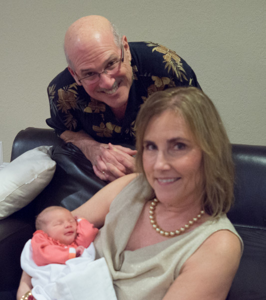 Uncle Richard and Aunt Sandie with their niece.