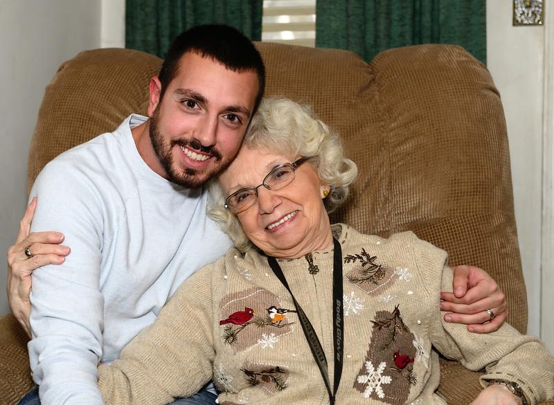 Chris and his Grandma on his 30th Birthday