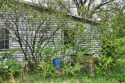 IMG#0094 Original Harrell Homestead 75+ years...still standing but vacant and neglected in 2009