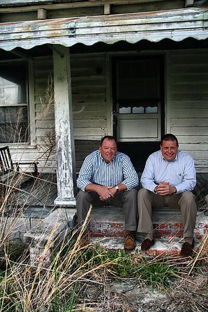 IMG#0083  Tom & Ben Harrell across the street from Harrell Farms