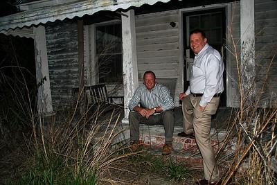 IMG#0082  Tom & Ben Harrell across the street from Harrell Farms