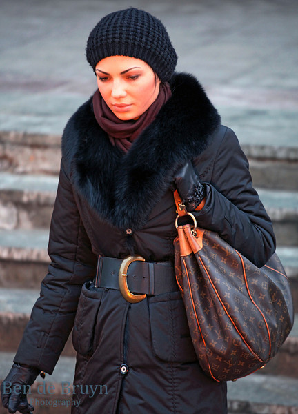 Moscow People: Woman on Manezhnaya Square