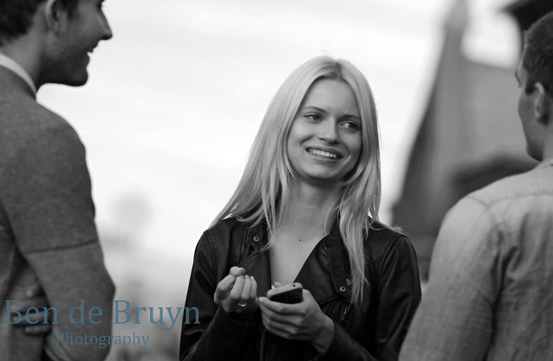 Moscow People: Smiling girl near State Historical Museum of Russia
