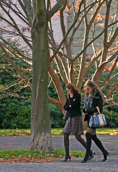 Oct 2010 Geneve walking in park