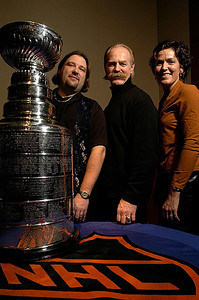 Myself, Lanny McDonald, and my wife Christine with the Stanley Cup.