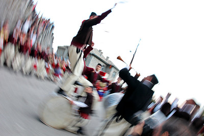 Traditional Macedonian folk dance Teskoto performed at Galicnik wedding.