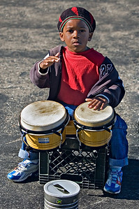 Youth street performer in San Francisco