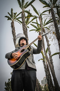 This guy rocking out on the board walk near Sea Port Village. Good stuff, get this guy a gig already!