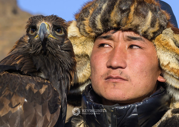 Bazarbai and his golden eagle
