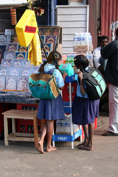 School kids<br /> Mysore, India