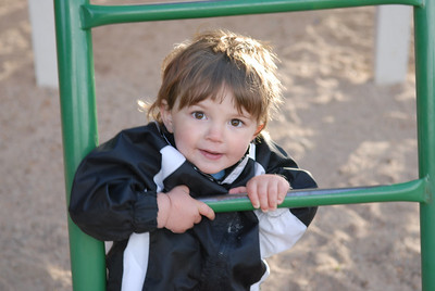 Cute Caden at the playground