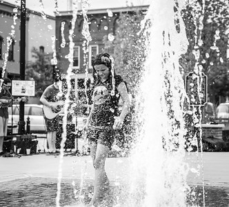 """Julia""  Julia plays in a fountain in Stevens Point, Wisconsin."