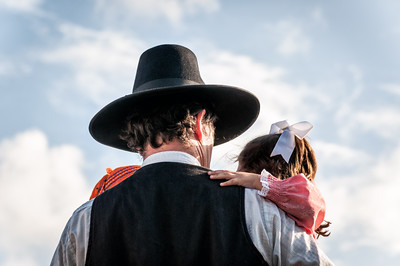 Cowboy and child