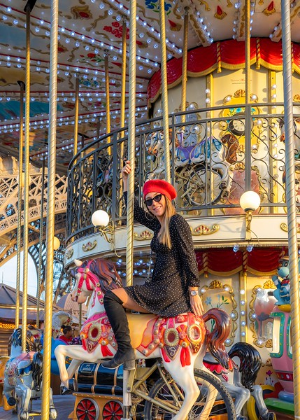Girl on the Carousel