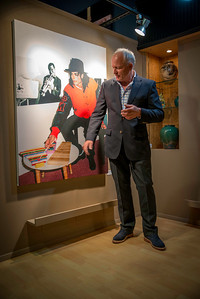 """Scott and Michael""  Scott Christopher unveils his Michael Jackson photo to the public for the first time at the 2013 AMFM Fest in Cathedral City, California at the Incredible Artist Gallery near the Mary Pickford Theater."