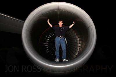 Self Portrait, 747 Engine | Miami, FL Canon EOS 5D Mark I | Canon EF 16-35mm f/2.8 L USM | 580EX Speedlight1/60s | f/8 @ 16mm | ISO 1000