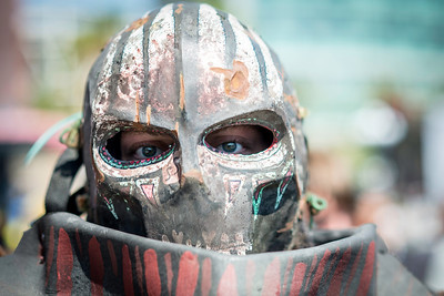 """""""My Eyes Are Very Vulnerable""""  Mike The Baron Muchow in his Skulduggers costume."""