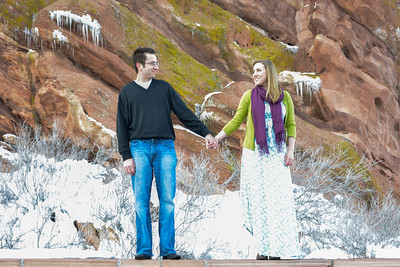 Jason and Joanna's Engagement Session at Red Rocks