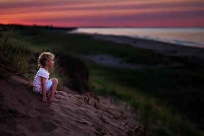 Sophie Exploring the Dunes