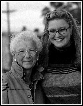 Devon and her Granny. 2003. 500EL, 150mm.