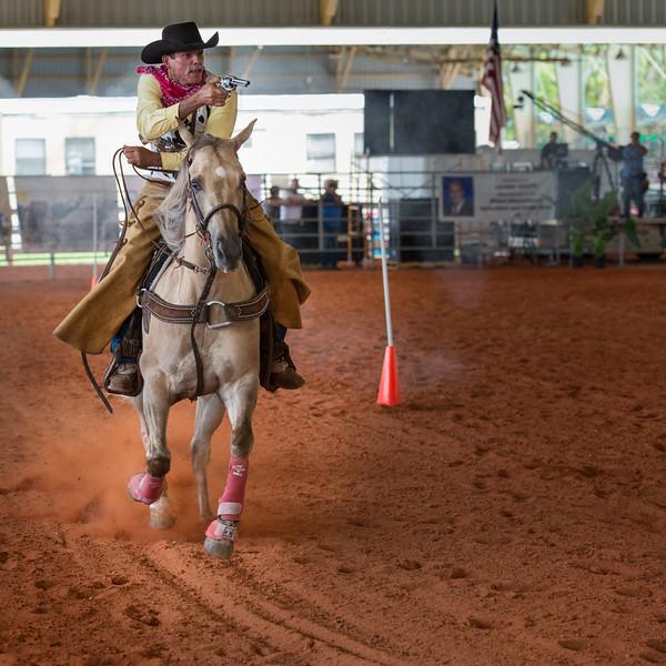 Sharp Shooter on Horseback