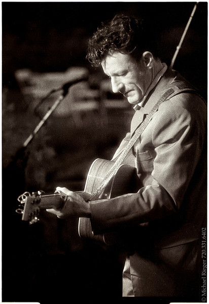 Lyle Lovett performs a private concert during the  annual radio conference hosted every year in Boulder, Colorado
