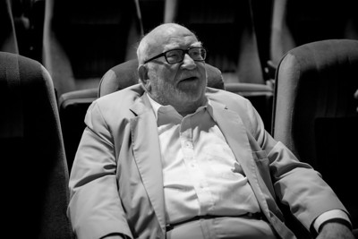 """Mr. Ed Asner""  Ed Asner enjoys a moment in the spot light at the 2013 AMFM Fest in Cathedral City, California."