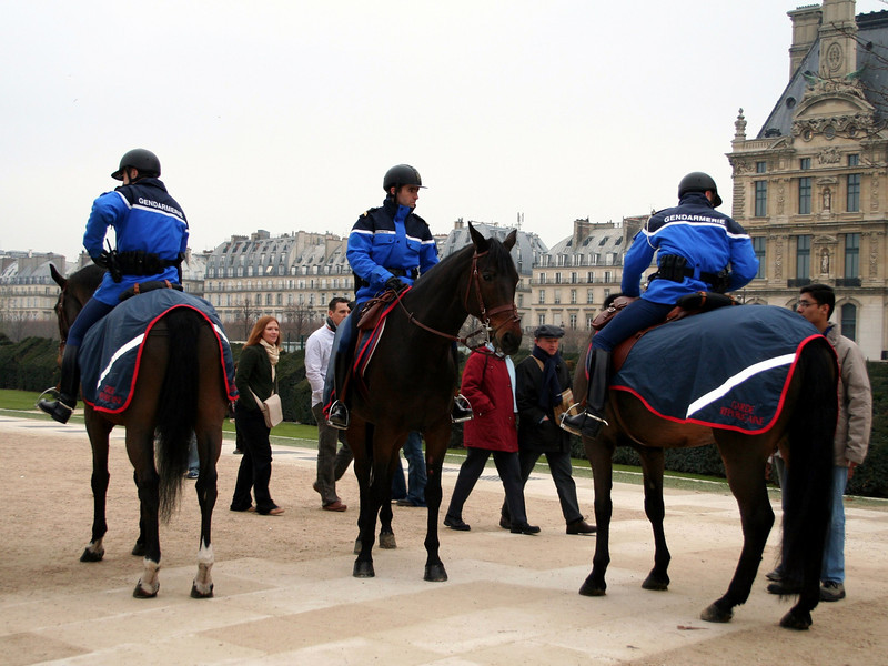 The knights of Gendarmerie<br /> Paris, France