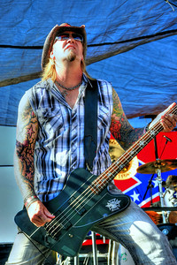 Rich Varville, bassist for Trailerpark Rockstar.