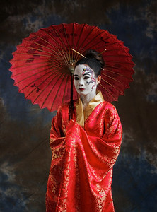 Oriental Lady in Red_1050724