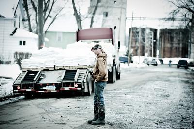 Valley City flood fight.  North Dakota  2011