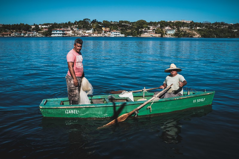 Fishermen outside of Jagua
