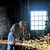 Blacksmith at Heritage Park.