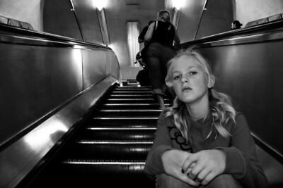 In the escalator