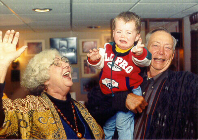 Mike a few years earlier with my Mom and Dad, Sharon and Charlie