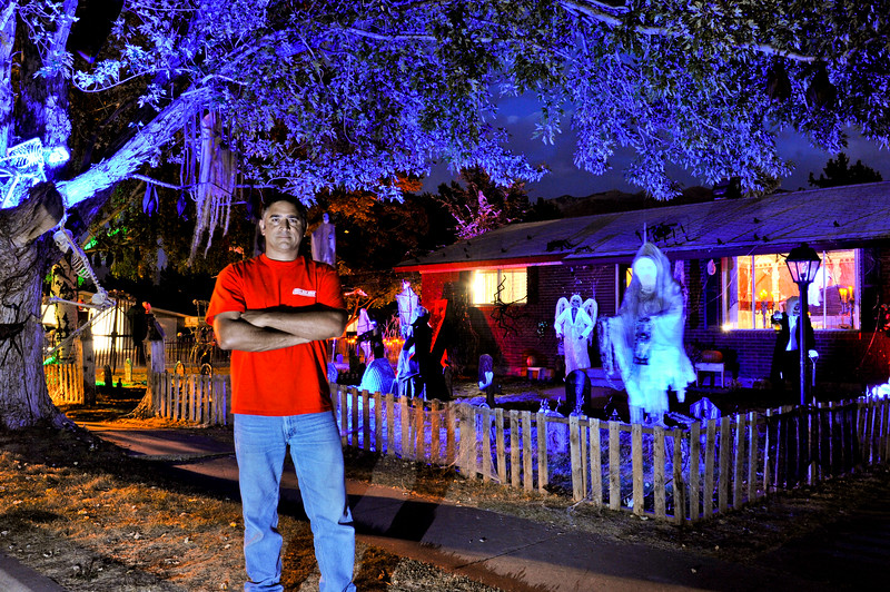 Spooky creatures fill the front yard of Joe Marquez's Halloween display in South Ogden. (ROBBY LLOYD/Special to the Standard-Examiner)
