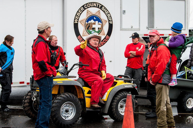 Search and rescue teams from the Weber and Box Elder County Sheriff's Offices joined together on March 23, 2015 to search for a 45 year old man who went missing on Sunday evening near the North Marina of Willard Bay.