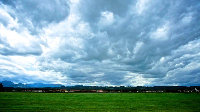 Storm Clouds Over Bruckmuhler, Germany