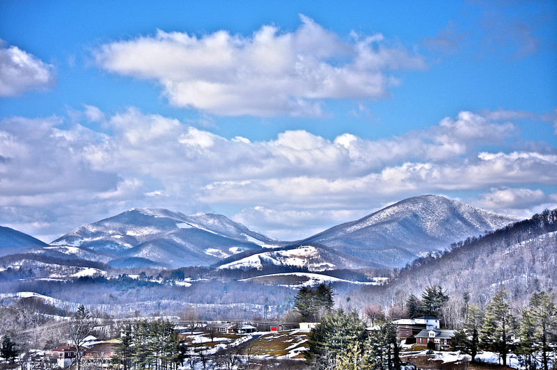 Snow Covered Mountains - Boone, NC