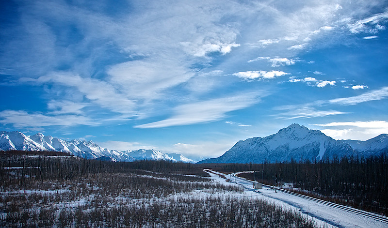 Winter Snow on the Chugach Mountains, Alaska