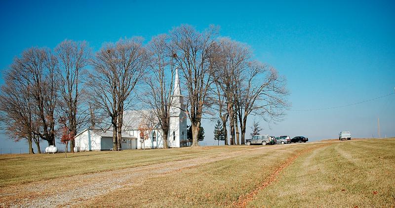 Sunday Morning at Round Prairie Community Church - Kansas