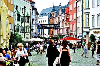 Busy Downtown Rosenheim, Germany