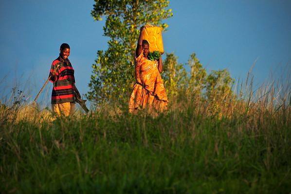 Early Morning Toting Water - Bukerere, Uganda